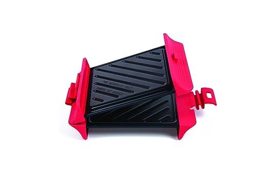 B.Bad 70118 - Grill cuadrado para microondas, color negro y ...
