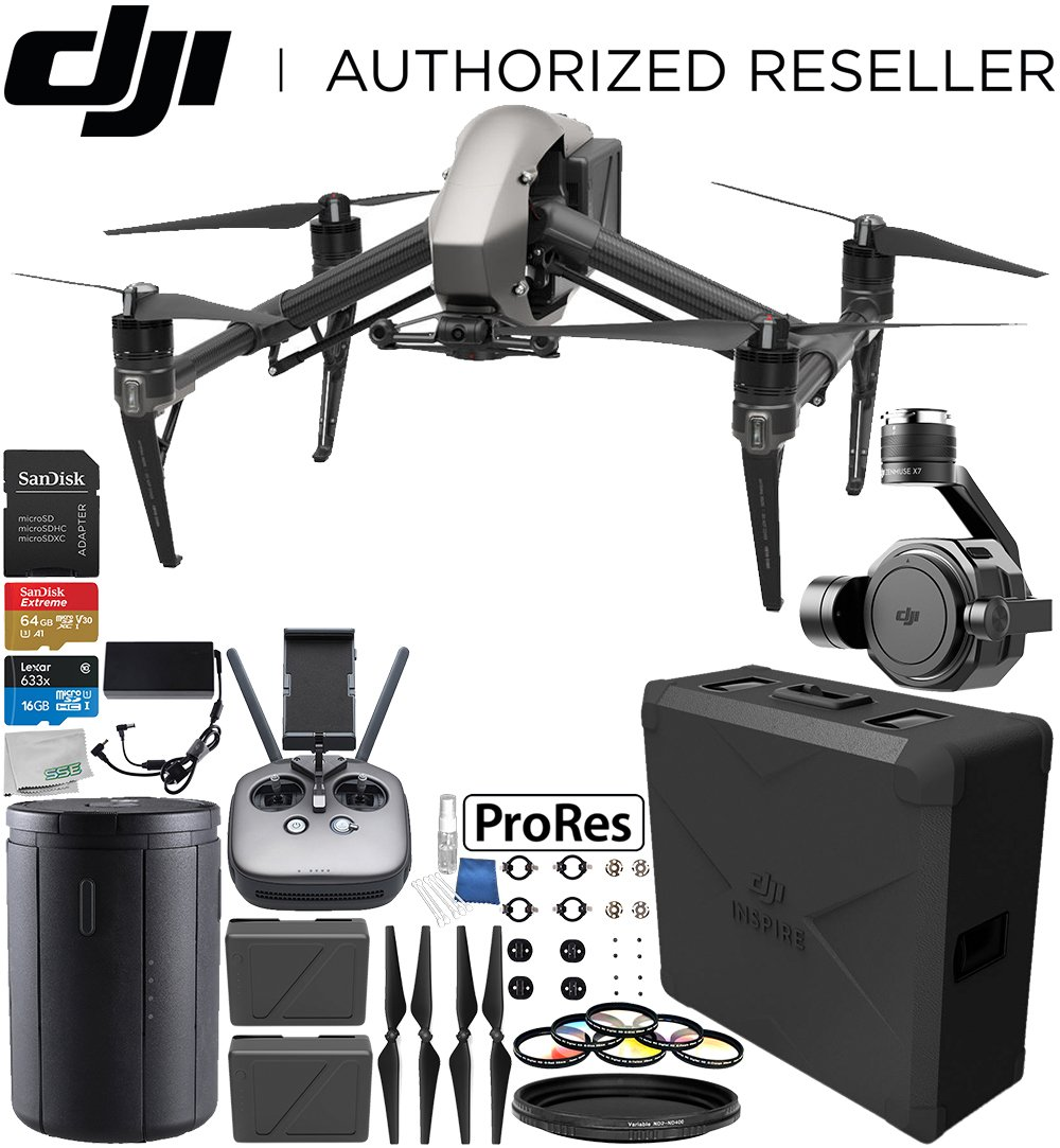 DJI Inspire 2 Quadcopter with Apple ProRes License with Zenmuse...