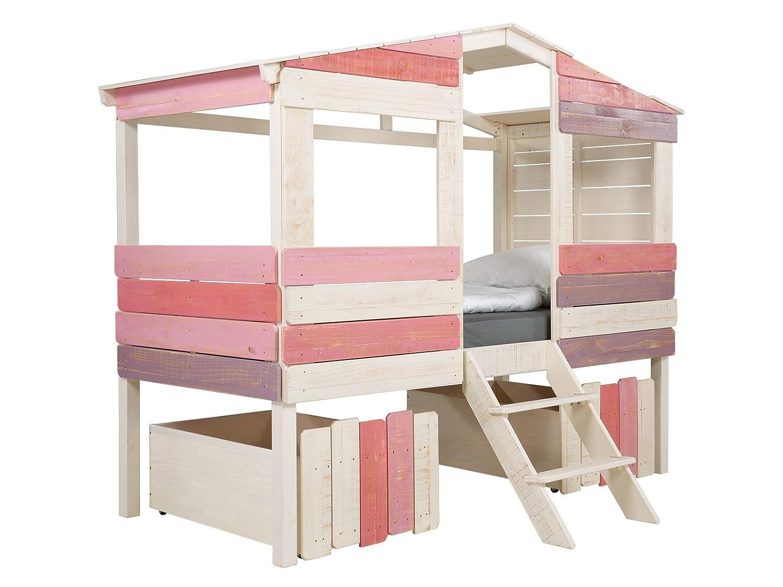 massivum Kinder-Bett Safari 221x179x100 cm aus Holz Pinie massiv ...