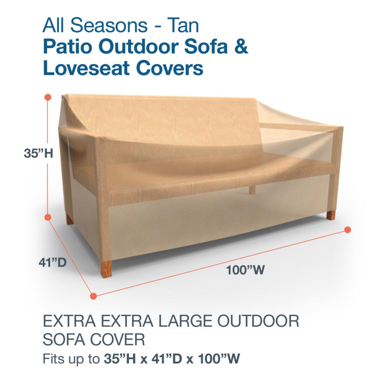 Amazon Budge All Seasons Outdoor Patio Sofa Cover Extra