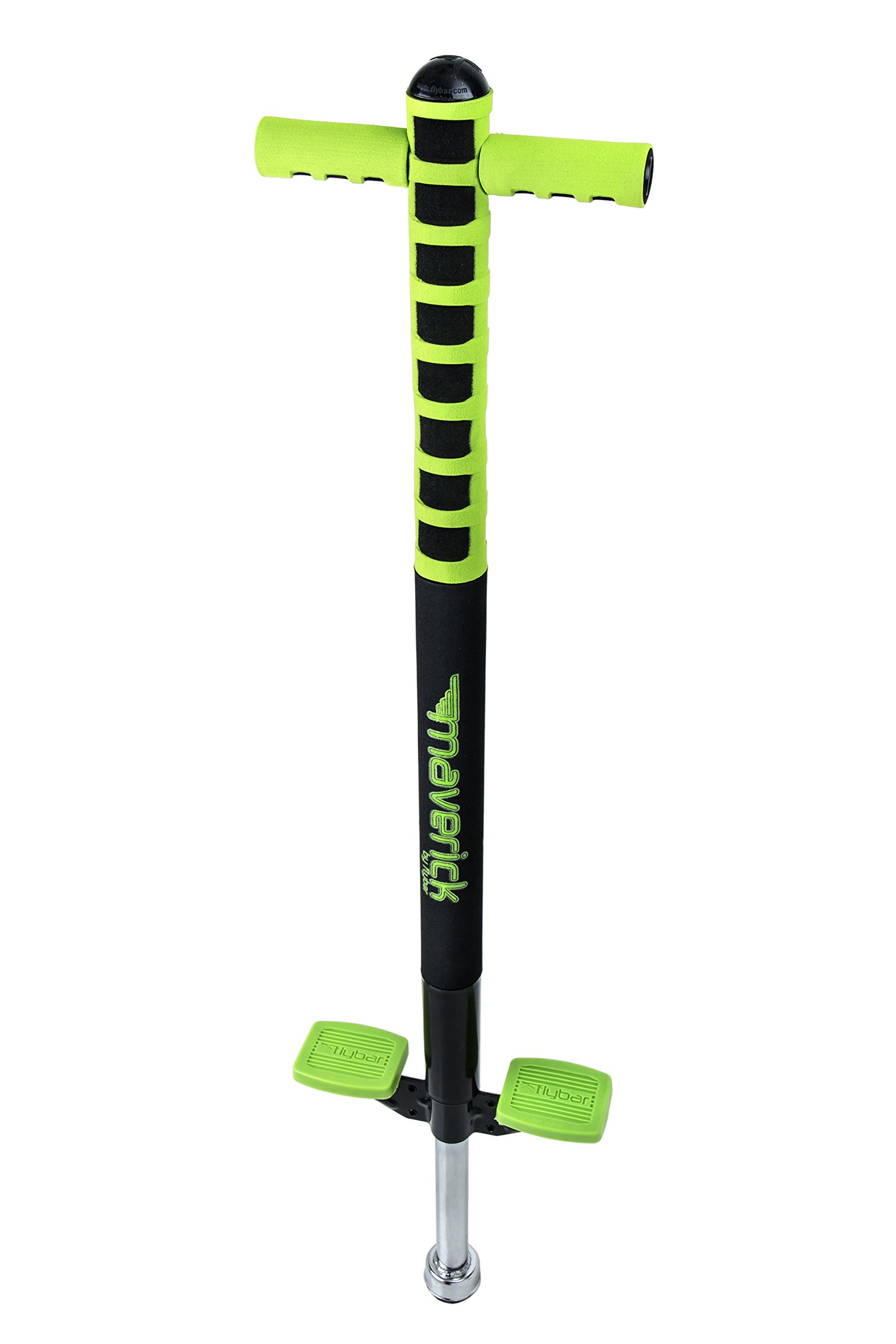 Flybar Foam Maverick Pogo Stick with Quick Clip Pogo Carry Strap (Green/Black - Green Strap) by Flybar (Image #4)