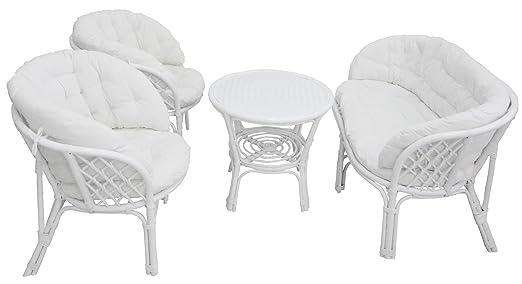 Luna Bahama - Juego completo para salón con sofá, sillón y mesa ...