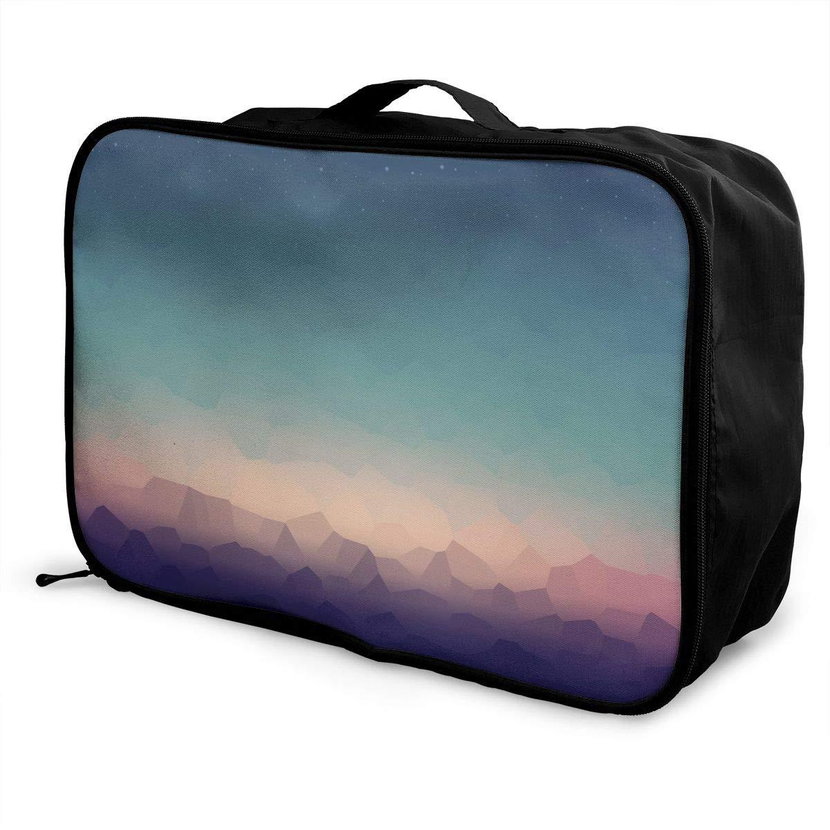Travel Luggage Duffle Bag Lightweight Portable Handbag Sunset Pattern Large Capacity Waterproof Foldable Storage Tote