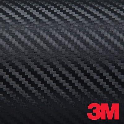 3M DI-NOC CA-421 BLACK CARBON FIBER 4ft x 1ft (4 sq/ft) Flex Vinyl Wrap: Automotive