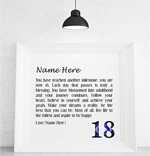 Tremendous Pure Essence Greetings Personalised 18Th Birthday Poem Framed Funny Birthday Cards Online Fluifree Goldxyz