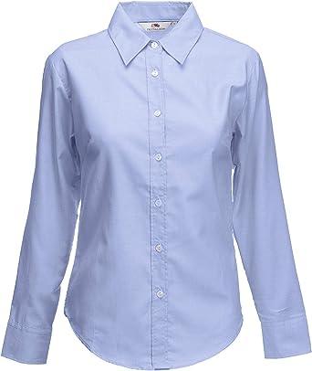 Fruit of the Loom sc65002 – Camisa Oxford de manga larga para mujer Azul azul: Amazon.es: Ropa y accesorios