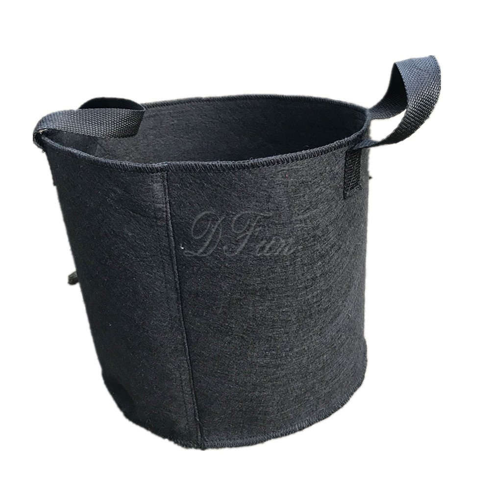 Seedling Growing Flowerpot Plant Beautiful Planting Bag Courtyard Deciduous Bag Can Be Carried and Foldable: Easy to Carry (Size : 1gallon) by Cherlvy