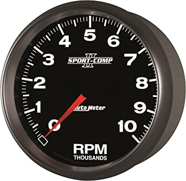 AutoMeter 200753-33 Marine Mechanical Speedometer 3-3//8 in Silver Dial Face Brushed Aluminum Bezel