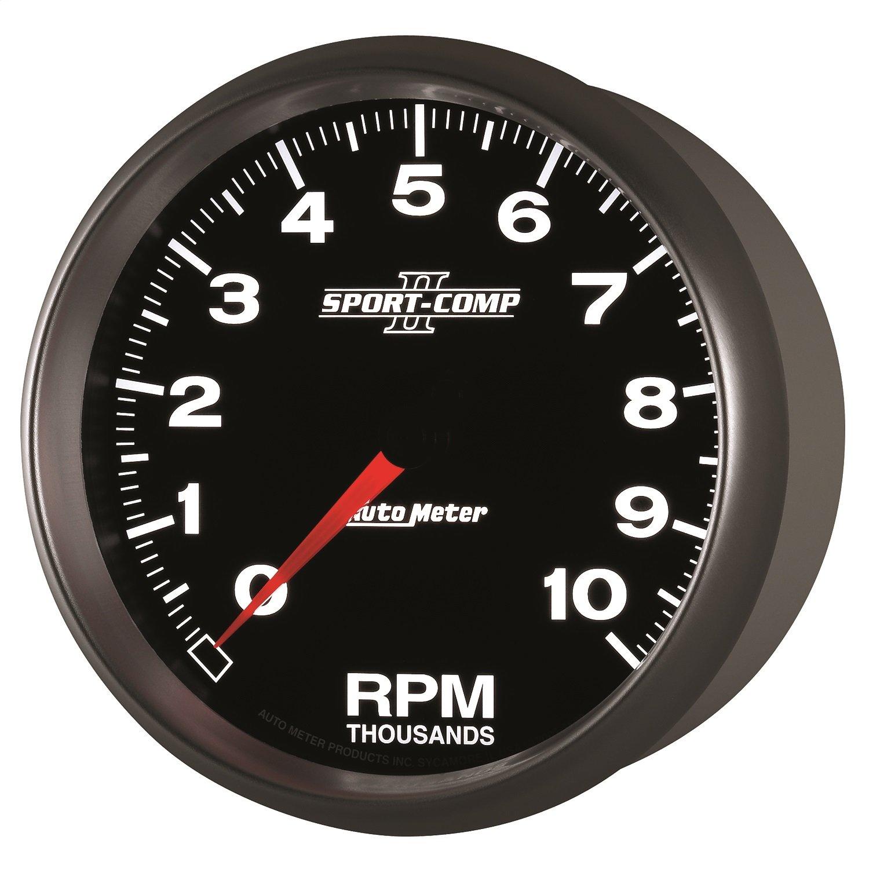 Auto Meter 3698 Sport-Comp II 5'' 10000 RPM In-Dash Tachometer by Auto Meter