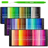 Shuttle Art Fineliner Pens, 100 Colors 0.4mm Fineliner Color Pen Set Fine Line Drawing Pen Fine Point Markers Perfect for Adult Coloring Books Drawing and Journal Art Projects