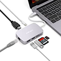 MINIX NEO C, USB-C Multiport Adapter with 4K HDMI Output (Compatible with MacBook and MacBook Pro) – Space Gray