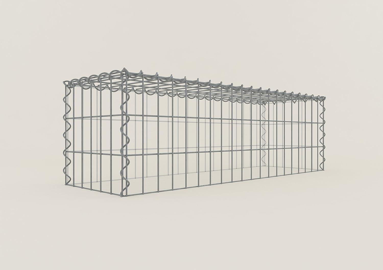 Maschenweite 10 x 10 cm Gabionen ANBAU-GABIONE Typ3 Steinkorb 100 x 70 x 50 cm
