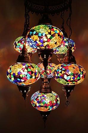 7 Glass Globe Turkish Moroccan