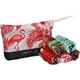 Envirosax Tropics Pouch Bag (Set of 5), Multicolor