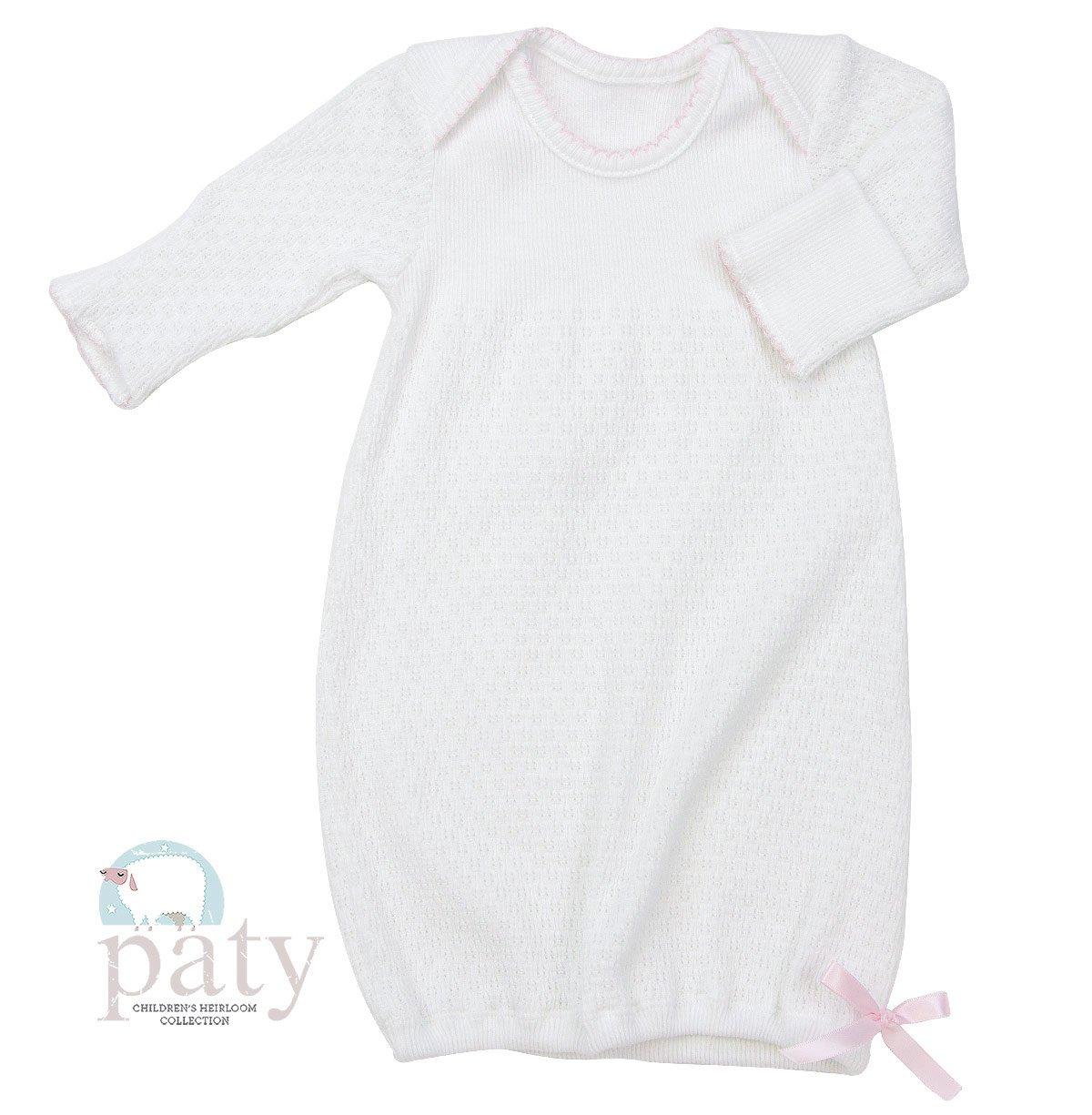 Paty Niñas Lap Hombro vestidos de novia w/rosa Trim rosa rosa Talla:recién nacido Paty Inc 115
