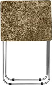 Home Basics Folding Table, Brown