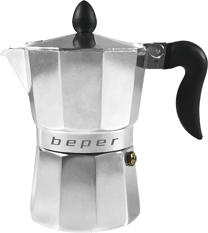 BEPER Cafetera Tradicional CA.011, 3 Tazas, Alumino, 0 W, 3 ...