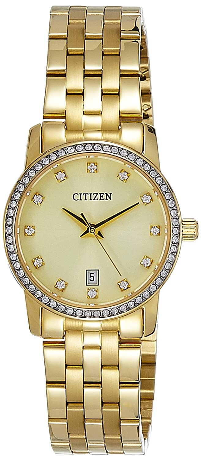 Buy Citizen Analog Gold Dial Womens Watch Eu6032 51p Online At Low Mk3131 Prices In India