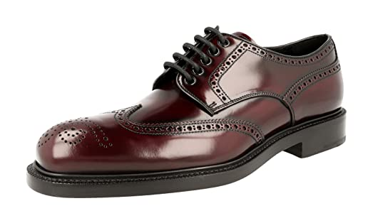 Men's 2EA069 055 F0397 Full Brogue Leather Business Shoes