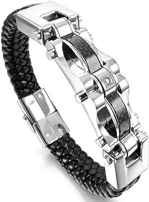 bracelet cuir biker homme