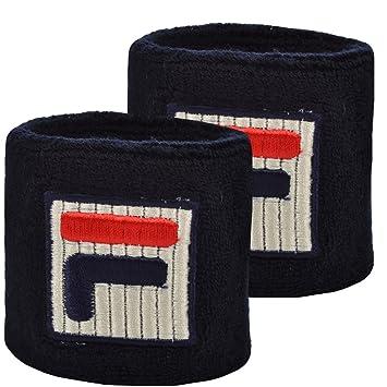 fdfed15c716 Fila Unisex Retro Cotton Tennis Sweatband Wristbands - Dark Blue -  AX00199403 - NS: Amazon.co.uk: Sports & Outdoors