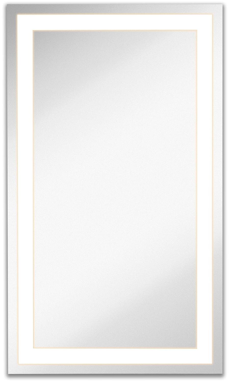 Amazon.com: Lighted LED Frameless Backlit Wall Mirror | Polished ...