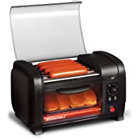 Elite Cuisine EHD-051B Hot Dog Toaster Oven, 30-Min Timer, Stainless Steel Heat Rollers Bake & Crumb Tray, World Series…