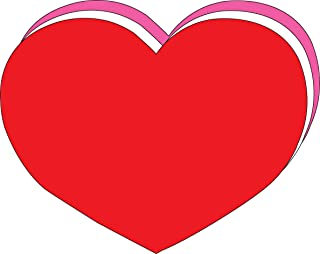 """product image for 8"""" x 10"""" Heart Tri-Color Super Cut-Outs, 15 Cut-Outs in a Pack for Kids' Love and Peace School Craft Projects, Valentine's Day Craft"""