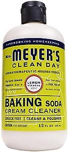 Mrs. Meyer's Baking Soda Cream Cleaner, Lemon Verbena, 12 OZ (Pack - 1)