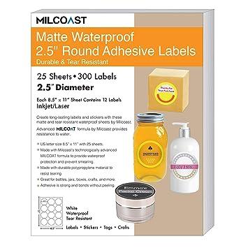Amazon.com: Milcoast - Etiquetas adhesivas con forma de ...