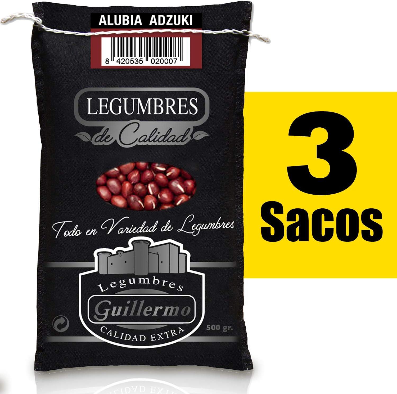 Guillermo Alubia Adzuki Judía Gourmet Calidad Extra 3 Sacos 500gr