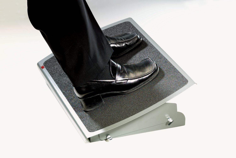 3M FR530 55x35cm Adjustable Foot Rest - Charcoal Black
