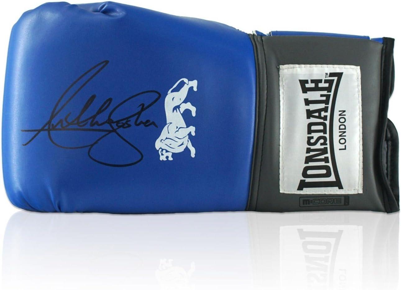 Anthony Joshua azul Lonsdale Firmado Guante de boxeo: Amazon.es: Deportes y aire libre