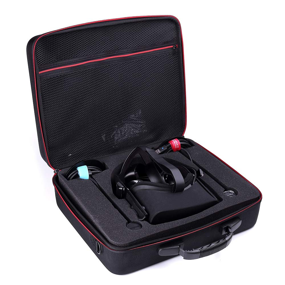 Hard Travel Case for Oculus Rift + Touch Virtual Reality System PC Virtual Reality Headsets Accessories Carry Bag Protective Storage Box (Black)