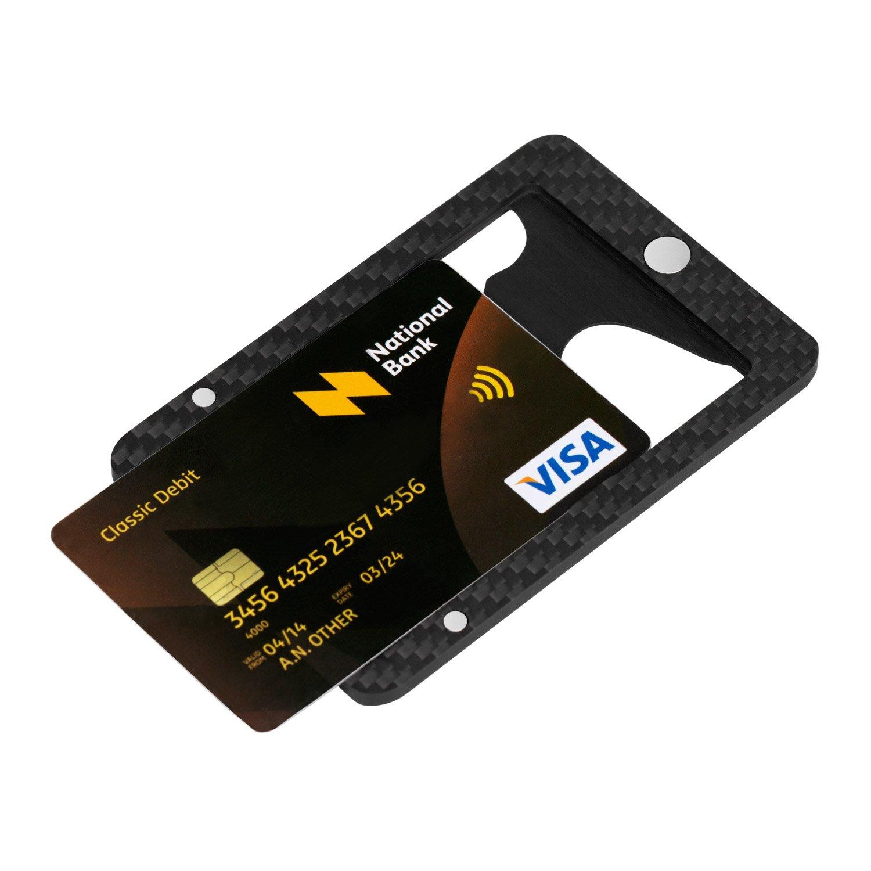 pitaka minimalist carbon magnetic modular card holder slim rfid