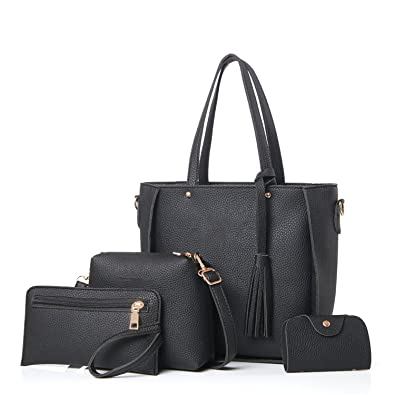 3aa02fee37044 Women Bag Set Big Capacity Female Handbag Fashion Shoulder Bag Purse Ladies  PU Leather Crossbody Bag