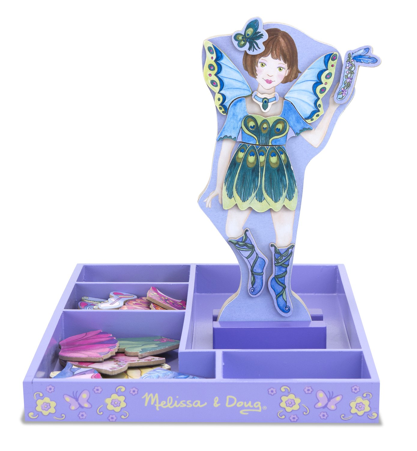 Melissa & Doug Magnetic Wooden Dress Up Doll Petal Fairy 18589