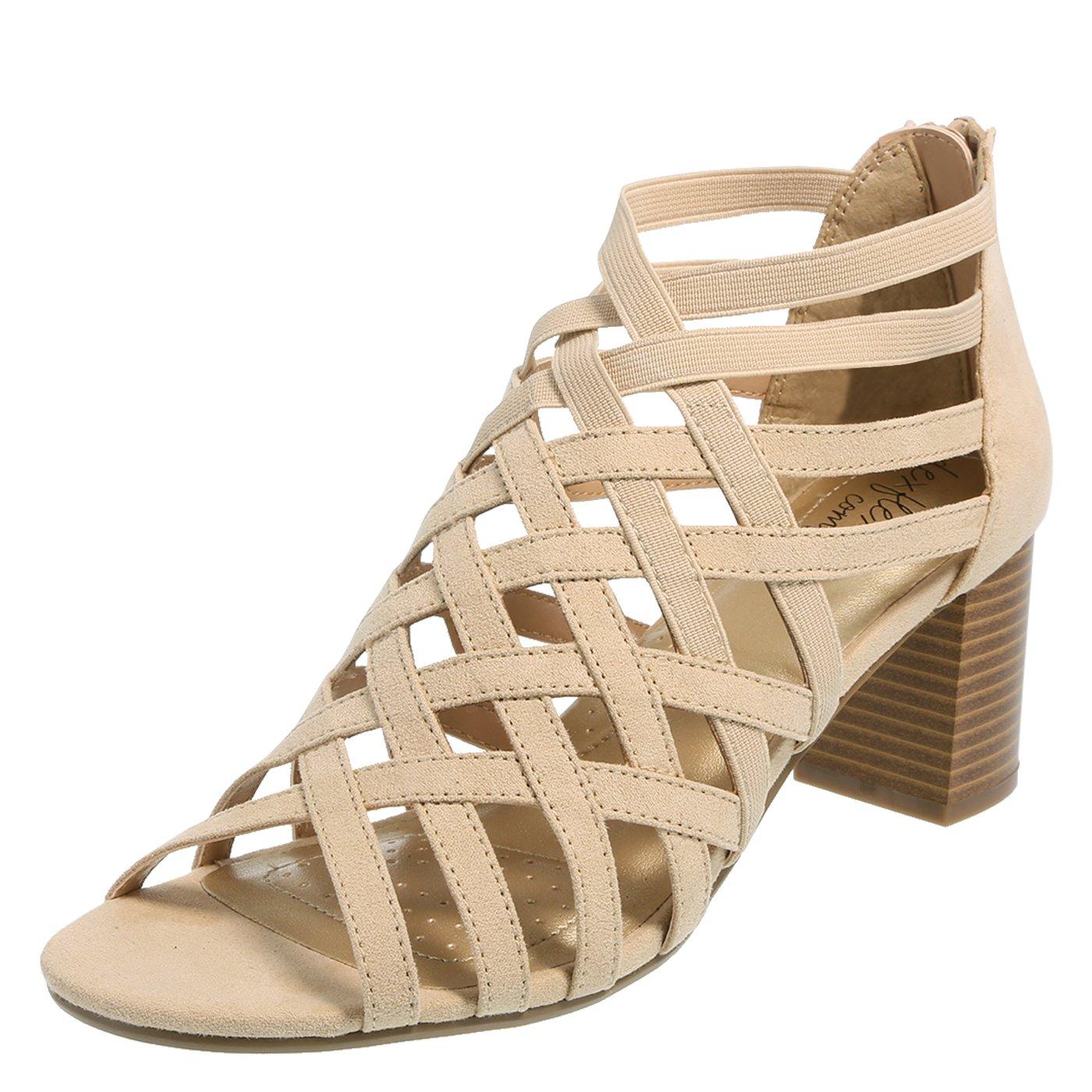 dexflex Comfort Nude Women's Trista Caged-Heel Sandal 5.5 Regular