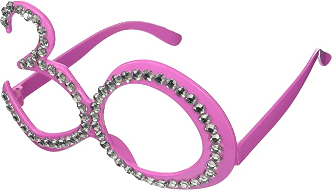 Party Glasses Birthday 30th Pink