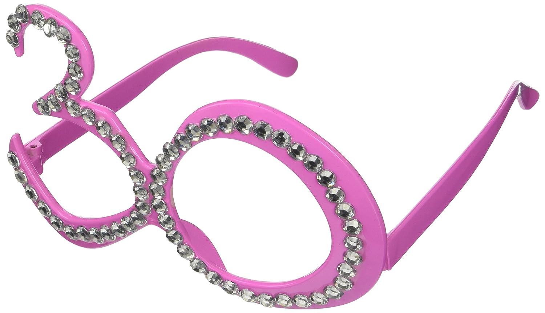 Folat Partybrille Brille 18 Jahre Pink Strass