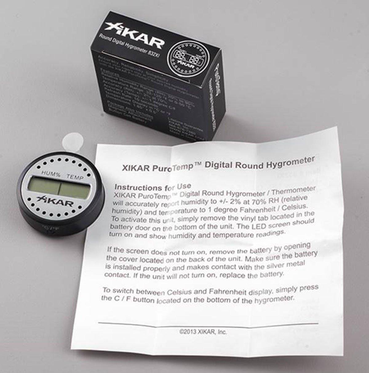 amazon com xikar round digital hygrometer garden u0026 outdoor