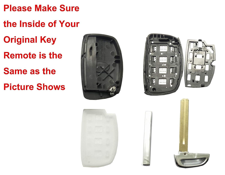 Replacement Key Fob Case for Hyundai Sonata Tucson Elantra Keyless Entry Key Fob Shell Horand
