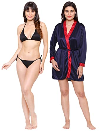 4b320c179b Klamotten Valentine s Gift for Girlfriend Wife Babydoll and Bikini  Set Women Nightwear Nightdress