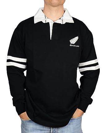 Nueva Zelanda, todos los Blacks camiseta de Rugby diseño de pluma ...
