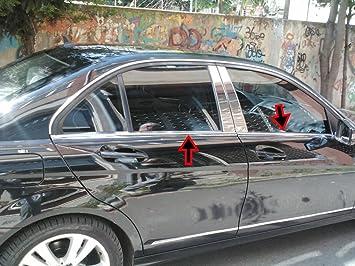Marco para ventanas de acero inoxidable cromado, 4 puertas, 4 piezas: Amazon.es: Coche y moto