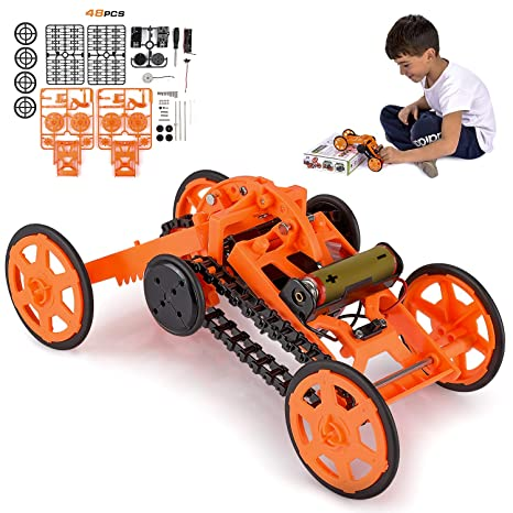 Amazon Com Engineering Stem Diy Car Assembly Gift Toy For Boys Kids