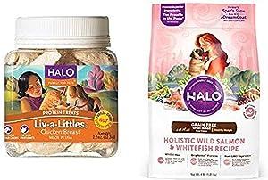 Halo Bundle Liv-A-Littles Treat Plus 4Lb Small Breed Dog Good Wild Salmon