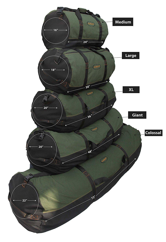 Super Tough Heavyweight Cotton Canvas Duffle Bag - Size XL, 36'' x 20'' by Ledmark (Image #2)
