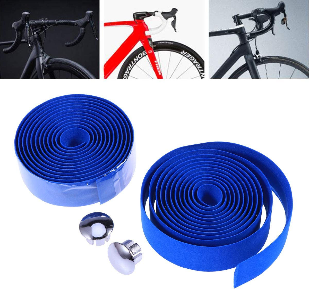 Mountain Bike Handlebar Tape Bike Bicycle Rubber Handle Grip Bar Sticker 1 Pair