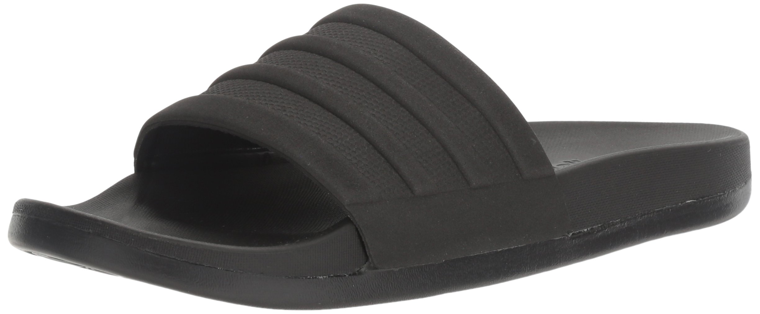 adidas Men's Adilette Comfort Slide Sandals, Black/Black/Black, (10 M US)